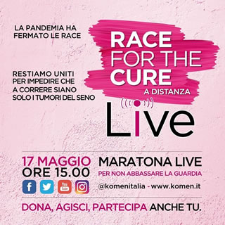 17 Maggio 2020: Hands Off Womens sostiene la Race for The Cure 2020