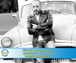 Global Legend Talent Award a Massimo Ferrari: un artista completo
